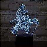 Luz nocturna de 3D de luz nocturna lámpara para sala de estar curso regalo de cumpleaños para jóvenes, niñas Con interfaz USB, cambio de color colorido