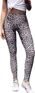 63d724d1ec5 RISTHY Pantalones Deportes Lápiz Mujeres Leopardo Pantalones Atléticos Yoga Leggins  Push Up Correr Gimnasio Ejercicio Cintura