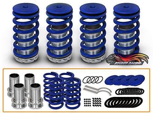 Rtunes Racing Adjustable Coilover Coil Springs Lowering Suspenion Kit Compatible for 90-01 Acura Integra 90-02 Honda Accord & 88-00 Civic & 93-97 Del Sol & 88-91 CRX & 92-01 Prelude