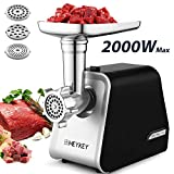 Homdox Electric Meat Grinder,The Mincer with 3 Grinders and Sausage Filling Tubes for Home Use,...