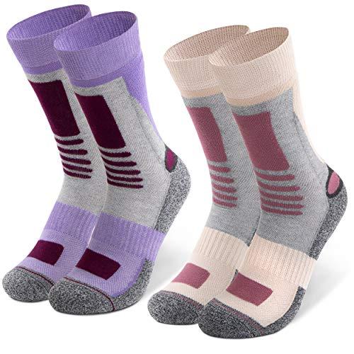 Occulto 2 paar dames wandelsokken | trekkingsokken | outdoorsokken | functionele sokken met gevoerde zool maten …