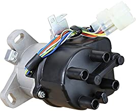 AIP Electronics Complete Premium Electronic Ignition Distributor Compatible Replacement For 1988-1991 Honda Civic 1st Generation JDM B Series With Tec Distributor OBDO Oem Fit DTD22