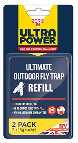 Preisvergleich Produktbild STV International Fly Trap Bait Refill Ultimate Outdoor Fliegenfalle Nachfüller Köder,  blau,  2, 5x9, 5x18 cm