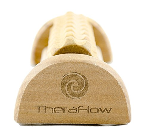 (New) TheraFlow Foot Massager Roller. Plantar Fasciitis, Trigger Point Therapy - Acupressure Reflexology Tool for Foot Pain, Relaxation, Stress Relief and Diabetic Neuropathy. Foot Pain Relief