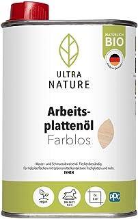 ULTRA NATURE Arbeitsplattenöl 0,5L, Farblos, Vegan, Bio, Lösemittelfrei, Holzschutz