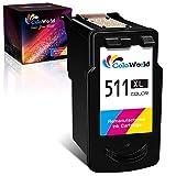 ColoWorld CL-511 XL Tricolor Remanufacturado Cartuchos de tinta de para Canon CL-511 XL 511XL para Canon Pixma MP495 MP250 MP270 MP280 MP480 MP499 MP230 iP2700 iP2702 MX320 MX350 MX410 MP240 Impresora