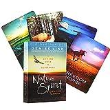 Native Spirit Oracle Cards, Juego De Mesa Tarot Future Adivination Game Card, Adecuado para Principiantes, Padres E Hijos como Regalo. (Bolsa, Mantel)