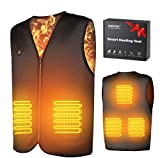 Heated Vest For Man/Women,Eventek Electric Heating Vest, USB Rechargeable Heated Jacket, Washable Heated Vests for Outdoor Skiing Fishing Hunting (Battery Not Included) (XXL)