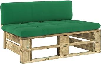 vidaXL Tuinmiddenbank pallet geïmpregneerd grenenhout groen