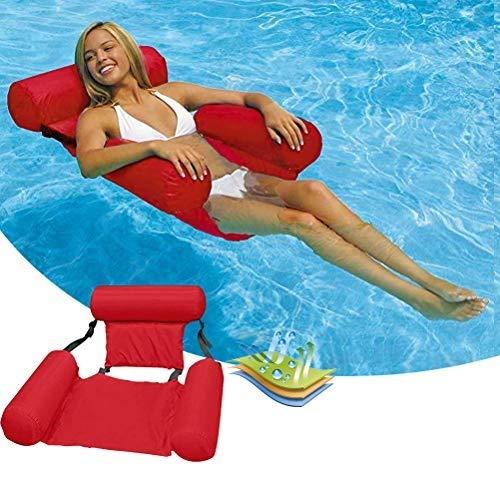 barsku Pool Float Inflatable Water Hammock Floating Bed Lounge Chair