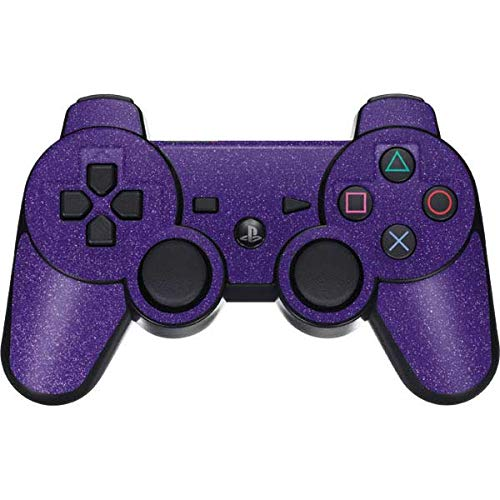 Skinit Decal Gaming Skin for PS3 Dual Shock Wireless Controller - Originally Designed Diamond Purple Glitter Design