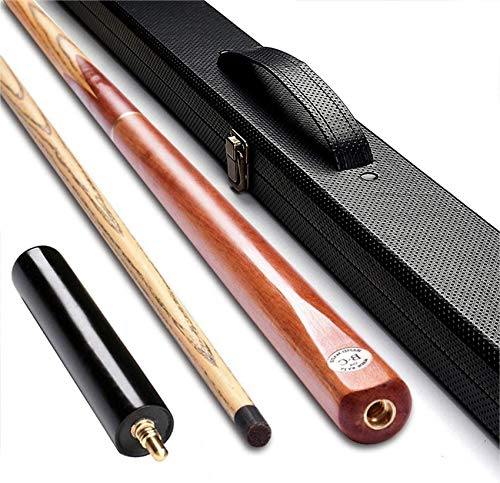 WEHOLY Pool Cue, 57 Inch 3/4 Joint Handmade 11.5mm Tip Snooker Cue Ash Hardwood with Cue Case Pool Cue