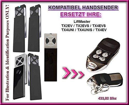 Liftmaster TX2EV / TX4EV / TX2EVS / TX4EVS / TX4UNI / TX4UNIS compatibel handzender, reservezender, reserveapparaat!!! Topkwaliteit afstandsbediening voor de beste prijs! !