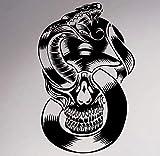 YuanMinglu Crâne et Serpent Wall Sticker Vinyle Applique Gothique Squelette Creative...