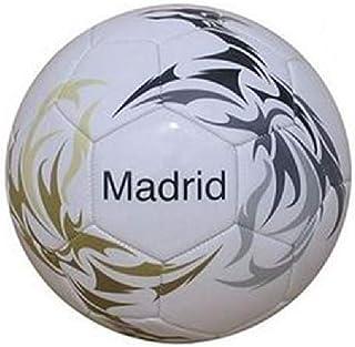 Junatoys Madrid Balón fútbol, Hombre, Blanco, Talla Única