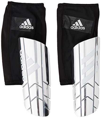 adidas Performance Ghost Pro Shin Guards, Silver Metal/White/Black, Medium