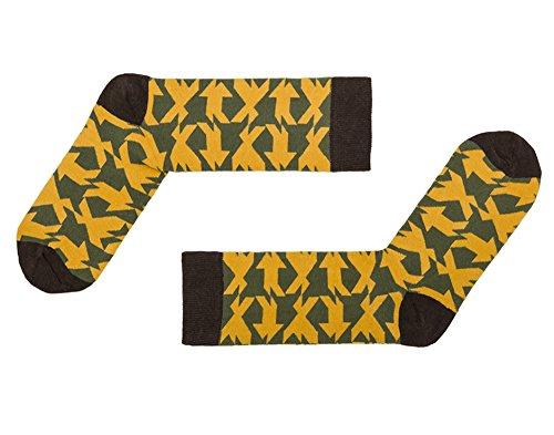 Sammy Icon Damensocken Cuadricula gelb - - Einheitsgröße