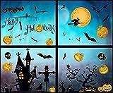 heekpek 8 Fogli della Parete di Halloween Halloween Pipistrelli Decorazioni Murali Carta da Parati Estraibile Decalcomanie a Muro Adesivi per Finestre Halloween Terrore