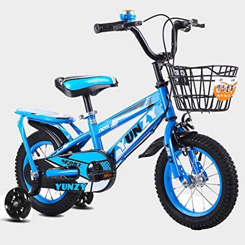 MUYU Kids Fiets Met flash wiel 12(14,16) Inch Verstelbare zitting en handvat Kids Bike met Training Wheels