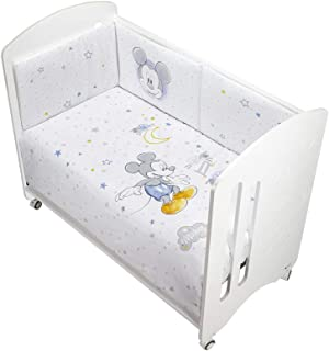 Interbaby Mk002-01 - Coordinado Disney Mickey Mouse Funda Nórdica Para Cuna, Blanco