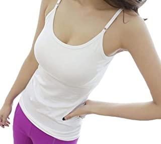 MK988 Women's Padded Spaghetti Strap Strapless Blouse Tank Tops Shirts