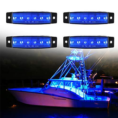 PSEQT 6 LED Marine Boat Trailer Utility Led Interior Lights Deck Pontoon Kayak Transom Navigation Bow Yacht Waterproof
