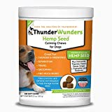 ThunderWunders Hemp Dog Calming Chews | Vet Recommended for Situational Anxiety | Fireworks, Thunderstorms, Travel & More | Made with Hemp Seed, Thiamine, L-Tryptophan, Melatonin & Ginger (180 Count)
