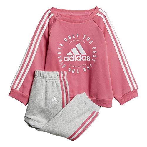 adidas Unisex Baby 3 Stripes Jogger Trainingsanzug, Mehrfarbig (semi solar pink / white), 98