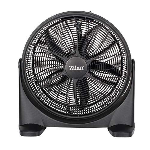 Ventilador de suelo de 51 cm de diámetro, 75 W, 3 niveles de potencia, ventilador de pie, enfriador de aire