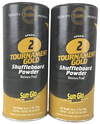 Sun-Glo Shuffleboard Pulverwachs mit Shuffleboard Sweep-Bündel-Option, Gold #2 Speed