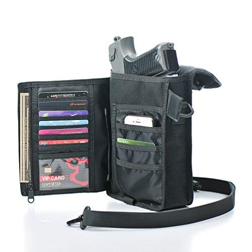 PRETTYGAGA Plus Holds Cell Phone,Outdoor Tactical, Messenger Bag, Military Trekking (Black)