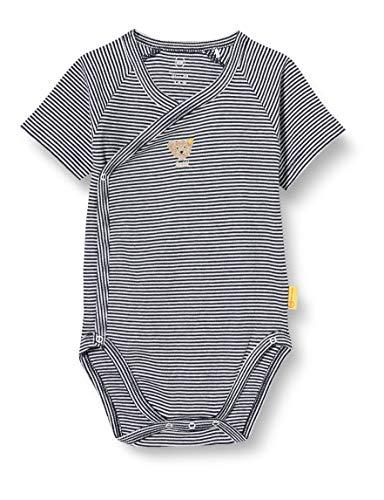 Steiff Unisex Baby praktischer Wickelknöpfung Body, Navy, 056