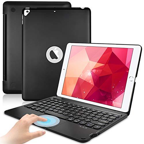 Lachesis iPad 10.2 Keyboard Case for ipad 8th Gen(2020)/7th Gen(2019), Touchpad Wireless Bluetooth Keyboard for iPad Air 3, iPad Pro 10.5 inch, Ultra-Thin ipad Folio Case for ipad 10.2, AutoWake/Sleep