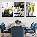 Avdgfr HD Art Print Images-[3PCS Nordic Mural Kitchen Restaurant Decoration Drink] Canvas Prints Banksy-Image Printed Art on Canvas 50X70cm 3PCS Frameless