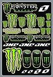 KIT STICKERS ADESIVI MOTO MONSTER SPONSOR MTB COMPATIBILI PER KTM HONDA YAMAHA KTM CROSS ENDURO CASCO (42)