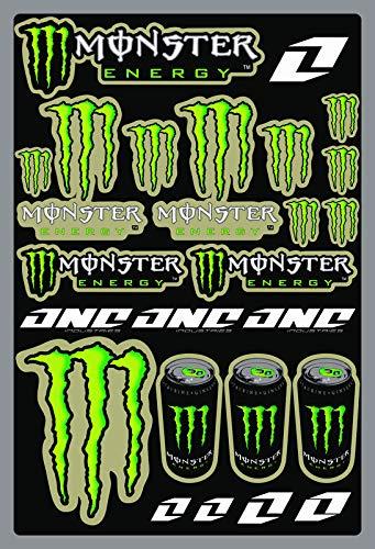 KIT STICKERS ADESIVI MONSTER SPONSOR MOTO COMPATIBILI PER KTM HONDA YAMAHA KTM CROSS ENDURO CASCO (42)