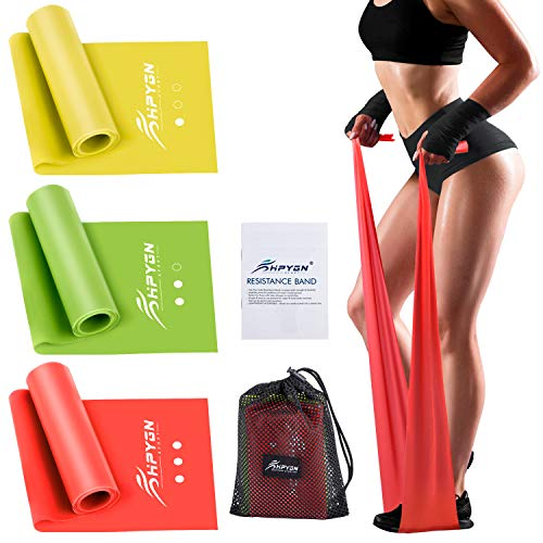 HPYGN Resistance Bands, Elastic Bands for Exercise Set, Band Workout Non-Latex, Perfect for Strength Training, Physical Therapy Bands Resistance, Yoga, Pilates Band, Stretching