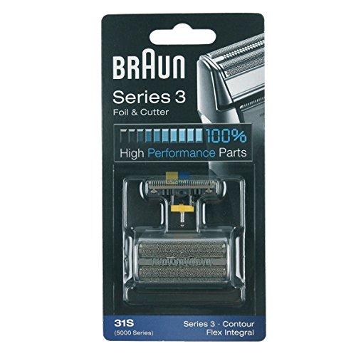 Braun 072829 31S ORIGINAL SET Kombipack Scherblatt + Klingenblock 5000 Series 3 Contour Flex Integral z.T. 390cc 370 5895 5875 Rasierer