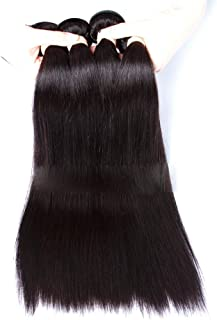 Lace Real Hair Ladies Hair Straight Hair 4×4 Closed Wig,Hairpieces (Color : Black, Size : 12inch)