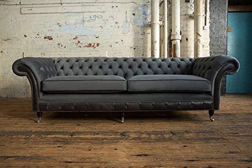 JVmoebel XXL Sofa 4 Sitzer Couch Chesterfield Big Polster Sitz Garnitur Stoff Textil Neu
