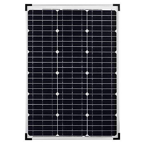 TEMPO DI SALDI Pannello Solare Fotovoltaico Monocristallino Da 50W 21V Con Pinze A Morsa