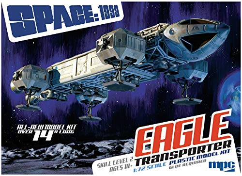 Space 1999 Modelo Kit Space Ship Eagle Transporter 1/72 36cm All New Nuevo MPC Round2 Espacio 1999