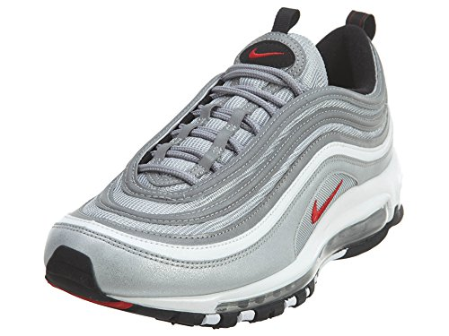 """Nike Air Max 97 OG QS """"Silver Bullet La Silver"""" - Metallic Silver/Varsity Red Trainer Size 7.5 UK"""