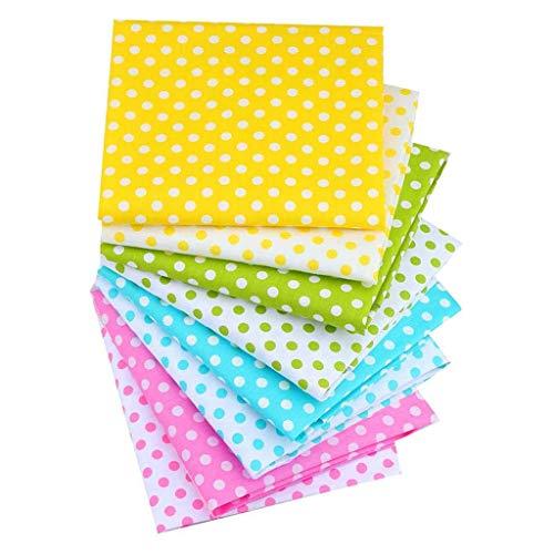 Hotopick Doe-het-zelf handgenaaid katoen bedrukt kleine bloemenrode zakdoek DIY huidvriendelijk katoen katoen ster golfpunt 8 stuks 40 × 50