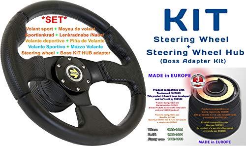 [DTi M10+170] DoradoTuning Volante Deportivo MÁS Piña de Volante/Volante Deportivo diámetro 320 mm