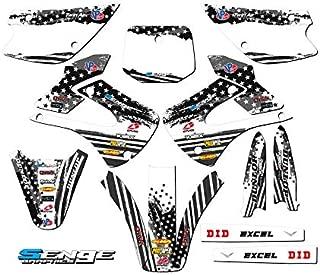 Senge Graphics kit compatible with Kawasaki 2001-2013 KX 85/100, Merica MATTE BLACK, Complete Graphics Kit