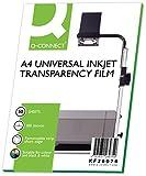 Q-Connect KF26074 OHP - Papel para impresoras de inyección (50 unidades)...