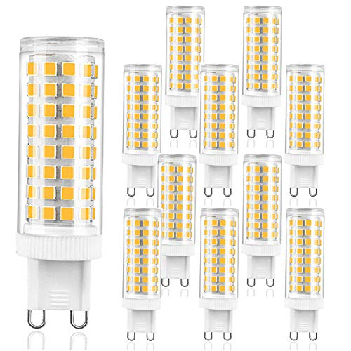 ZJYX 11X G9 Bombillas LED 10W Lámpara LED 100 SMD 2835LEDs Iluminación Bombillas 1000LM Blanco Frío 6000K Reemplaza 100W Halógena AC220V-240V