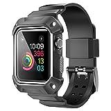 Bandmax Armband für Apple Watch, Watch Band Weiche TPU Silikon Armband mit integrierter...