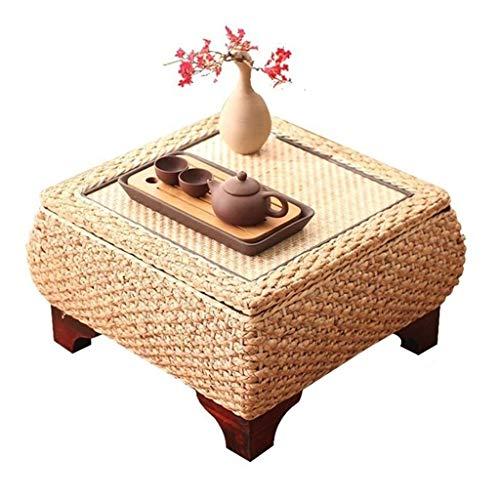 Mesa De Centro Tatami De Estilo JaponésMesa De Té con Ventana Salediza for Sala De Estar Mesa De Almacenamiento Cuadrada for Sala De Estar (Color : Brown, Size : 45 * 45 * 30cm)